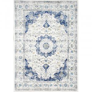 Covor Bonifant albastru / alb, 91 x 152cm