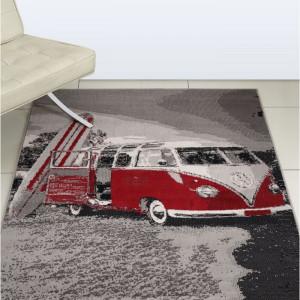Covor Camper Van, rosu, 80 x 150 cm