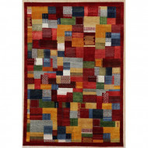 Covor Chisdock Nomad, lana, rosu, 90 x 160 cm