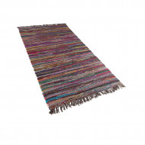 Covor Danca, bumbac, multicolor inchis, 80 x 150 cm