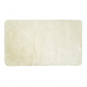 Covor de baie Opal, acril, alb perlat, 80 x 50 cm