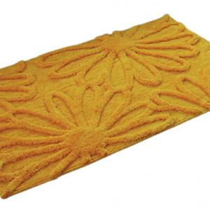 Covor de baie, poliester, galben, 70 x 120 cm