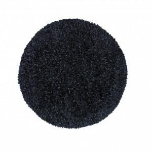 Covor Epperson Flatweave negru rotund 80cm