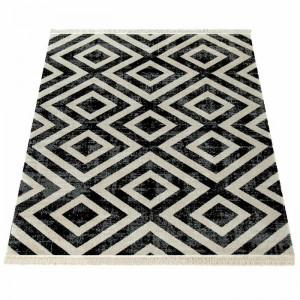 Covor Middleham, negru/alb, 60 x 100 cm
