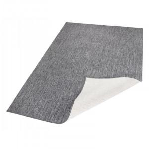 Covor Mosta, fibre sintetice, gri, 80 x 150 cm