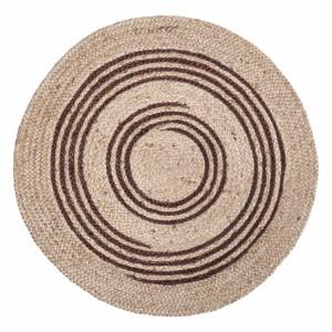 Covor rotund de iuta Tatu, diametru 90 cm