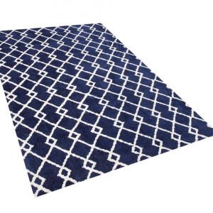 Covor Serres, albastru/alb, 140 x 200 cm