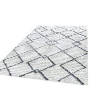 Covor Timberville, polipropilena, gri/crem, 60 x 110 cm