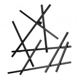 Cuier de perete Linklater, negru, 79 x 79 x 10 cm