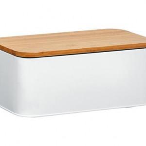 Cutie depozitare paine Metal alba, 31x13 cm