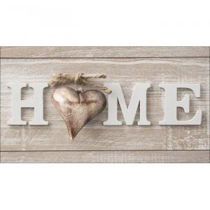 """Decor de perete """"Home"""", maro/alb, 15 x 27 cm"""