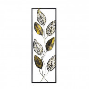 Decor de perete, negru/galben, 90 x 32 cm