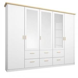 Dressing Kolding, alb, 214 x 232 x 57 cm