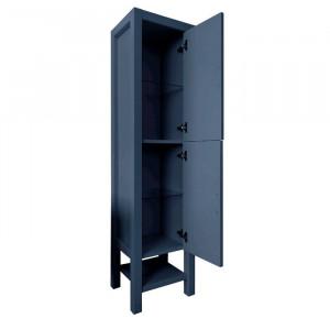 Dulap pentru baie Gambill, albastru, 163 x 40 x 37 cm