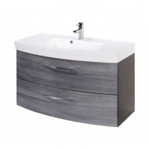 Dulapior pentru chiuveta Strahan MDF/PAL/metal, gri/alb, 100 x 54 x 47 cm