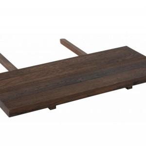 Extensie de masa Mary lemn masiv, maro inchis, 40 x 4 x 90 cm