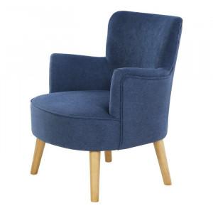 Fotoliu Abbeville, albastru, 80 x 72 x 65 cm