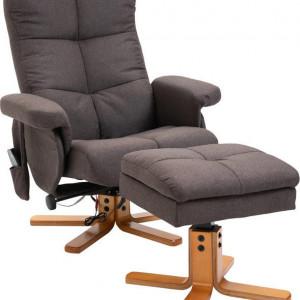 Fotoliu recliner Antoinesha cu suport pentru picioare, 80 x 86 x 99cm