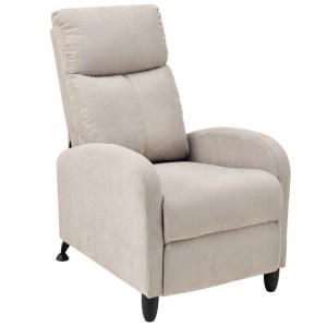 Fotoliu recliner Catrena, textil, 102 x 60 x 92 cm