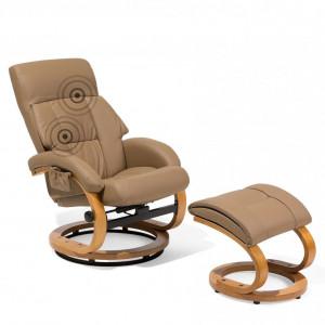 Fotoliu recliner Force, piele ecologica, masaj in 5 puncte, 55 x 80 x 100 cm
