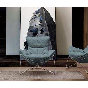 Fotoliu Rocio, albastru, 96 x 86 x 84 cm