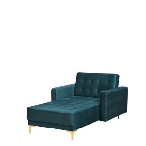 Fotoliu sezlong Aberdeen, verde, 107 x 168 x 83 cm