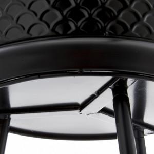Ghiveci cu suport, negru, 32 x 60 cm