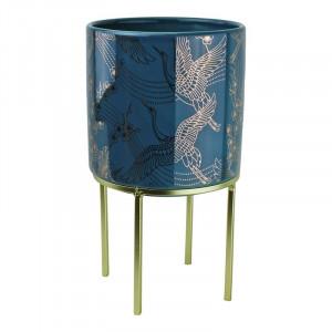 Ghiveci Ewell din ceramica, albastru