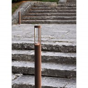 Lampa Helix II plastic/otel, maro, 1 bec, diametru 8 cm, 5 W