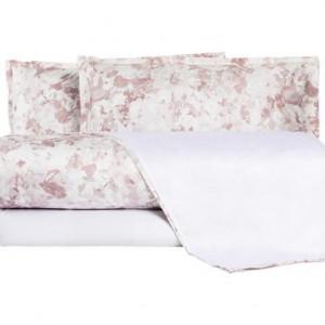 Lenjerie de pat roz antic, 205 x 255 cm