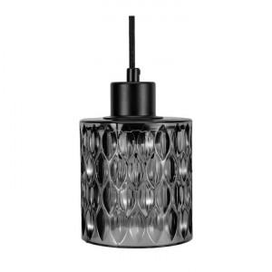 Lustra tip pendul Gleaming Magic, sticla, neagra, 168 x 10 cm