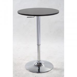 Masa de bar Alisson, negru/argintiu, 60 x 60 x 60 cm
