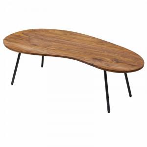 Masa de cafea Maurer, lemn masiv/metal, 36 x 122 x 63 cm