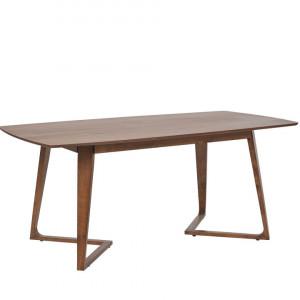 Masa Huxter, lemn masiv, maro, 76 x 90 x 180 cm