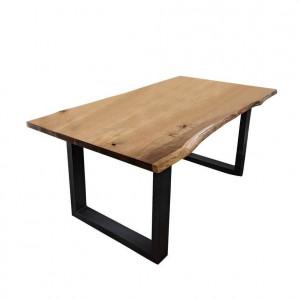 Masa Micala Home Affaire, lemn masiv/ metal, 200 x 100 x 76 cm