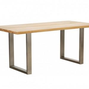 Masa Oliver, lemn/metal, maro/ argintiu, 180 x 75 x 90 cm