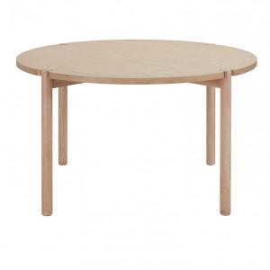 Masa rotunda Andas Niss, lemn de frasin, 135 x 75 cm