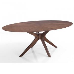 Masa Zed, maro, lemn masiv, 190 x 110 x 75 cm
