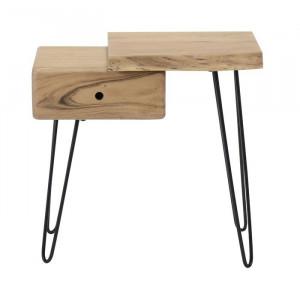 Noptiera Eder, lemn, maro, 59 x 60 x 32 cm