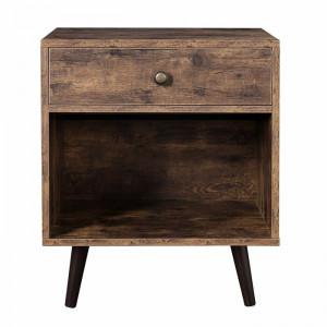 Noptiera Hera, lemn de pin, maro, 58 x 50 x 40 cm