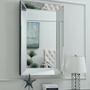 Oglindă de perete Abalone, argintie, 120 x 80 x 5 cm