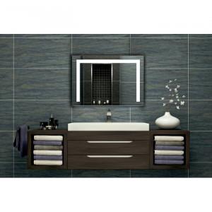 Oglindă pentru baie, LED, 80 x 60 cm
