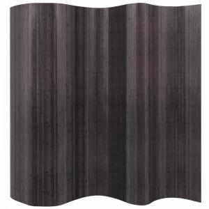 Paravan/separator camera cu 1 panou Williamson, bambus/ratan, gri