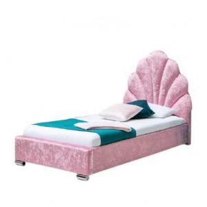 Pat pentru copii Magoon, catifea, roz, 120 x 97 x 208 cm