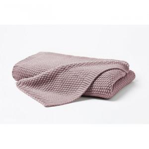 Pătură Koa, acrilic, mov, 130 x 170 cm