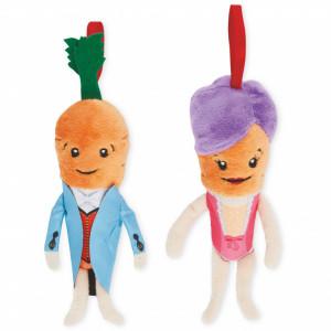 Pereche 2 morcovi de plus Kevin și Katie, îmbrăcați