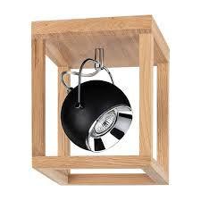 Plafoniera Roy I, LED, metal/lemn, maro, 20 x 110 x 20 cm
