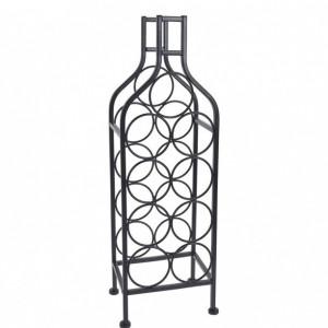 Raft metalic Karll pentru 9 sticle de vin, 22 x 16 x 69 cm