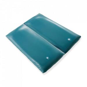 Saltea Wave, vinil, albastra, 200 x 180 x 20 cm