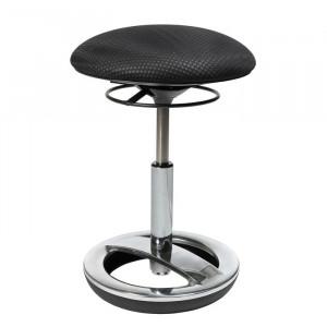 Scaun de birou Bob, reglabil pe înălțime, negru/argintiu, 80 x 80 cm